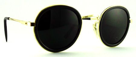 LP Round Metal - 459T Black #vitnagesunglasses $15