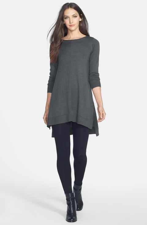 Eileen Fisher Merino Jersey Tunic (Regular & Petite)