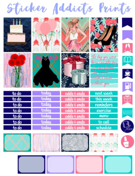 Free Printable Make A Wish Planner Stickers | Sticker Addicts Anonymous