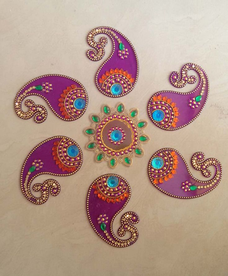 Acrylic decorative #rangoli with 41% discount @ #craftshopsindia