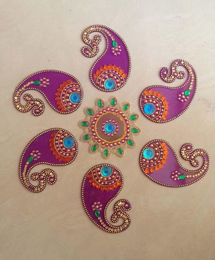 Acrylic decorative #rangoli with 41% discount @ #craftshopsindia