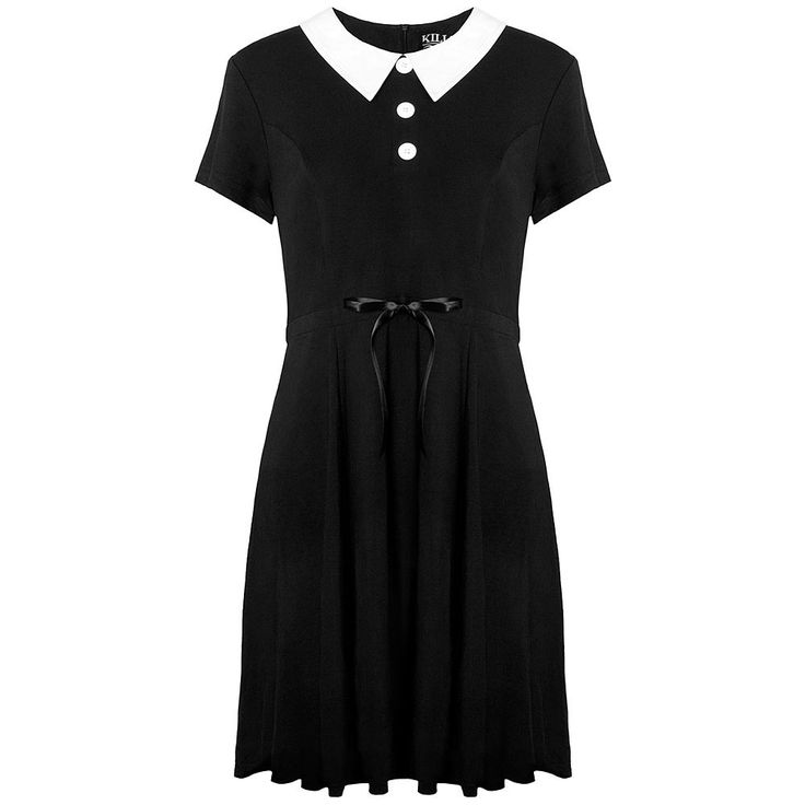 Love this Wednesday Addams style of dress..