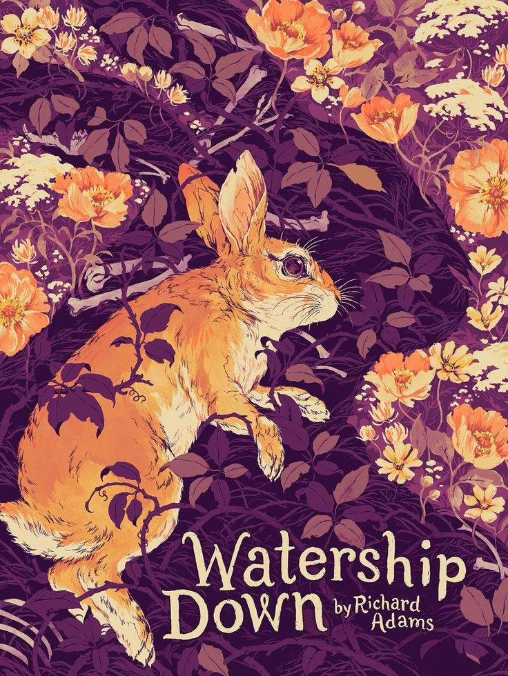 Teagan-White-Watership-Down-Black-Rabbit-of-Inle-Poster-Variant.jpg (1160×1546)