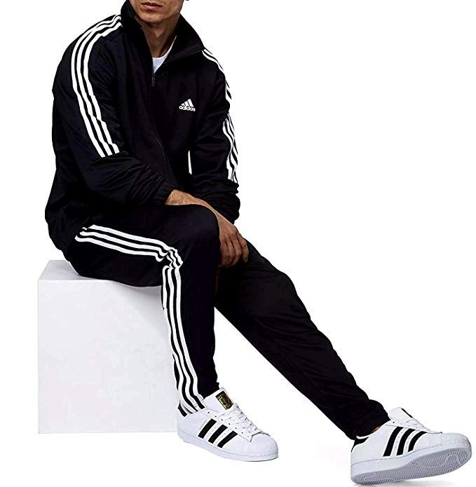 797f5639f427a adidas Men s Tiro Track Suit 3 Stripes Tracksuit Trace Blue/Navy at ...