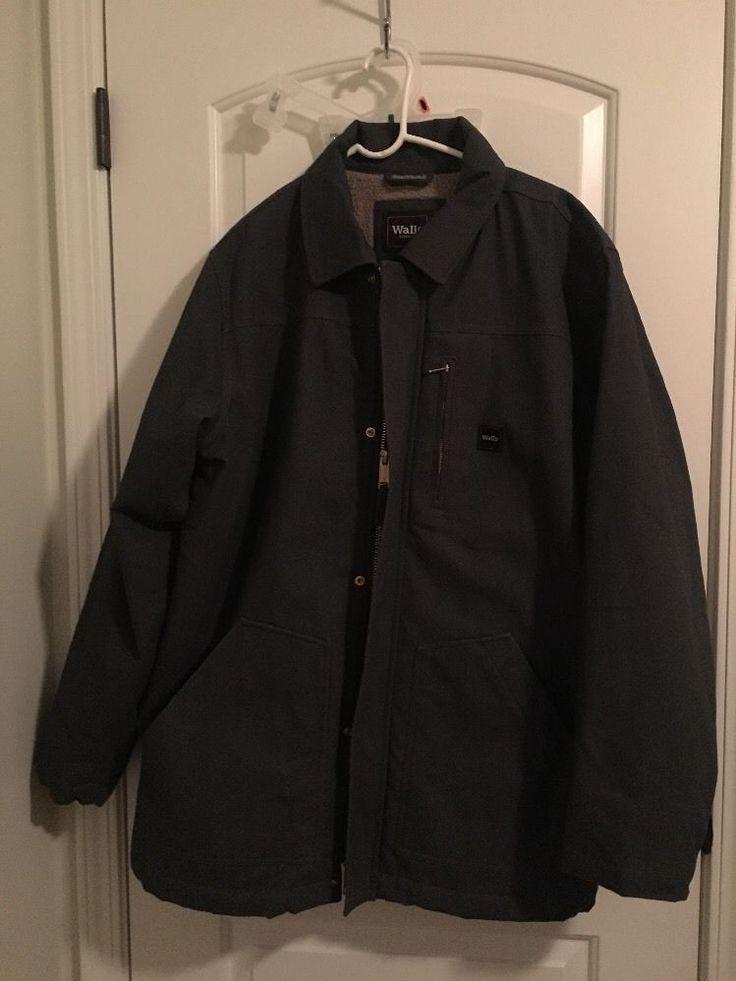 WALLs WORKWEAR Mens Heavy Lined Coat Sz XL Gray Jacket Clothes NWOT #Walls #jacketcoat