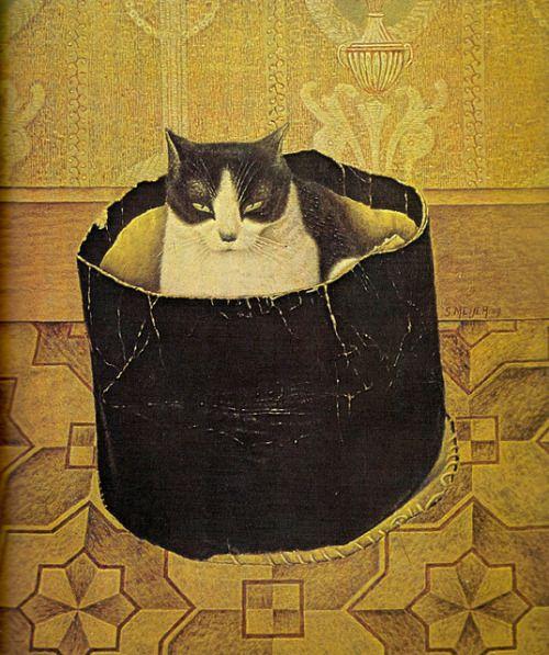 """darksilenceinsuburbia: """" Sal Meijer. Surprise Content, 1909. http://en.wikipedia.org/wiki/Sal_Meijer """""""