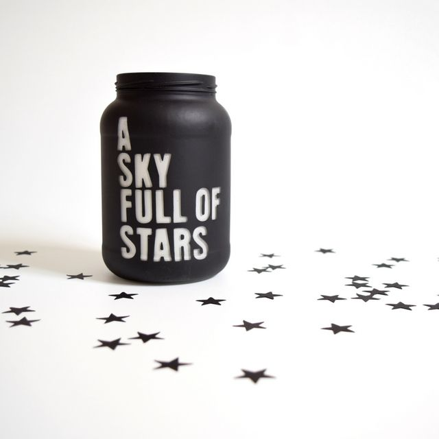 How to spray paint glass and not get angry - northstory.ca A Sky Full of Stars