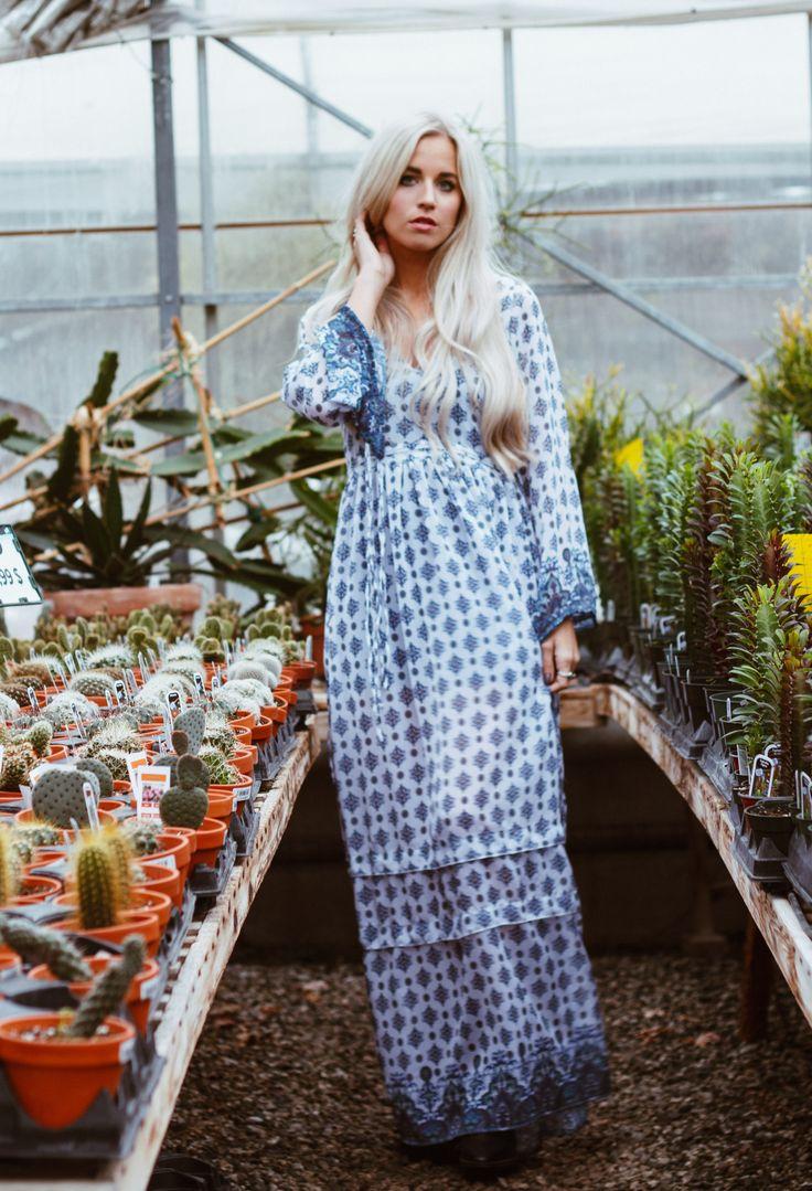 Chefchaouen Dress , bohemian dress. Bell sleeve dress.