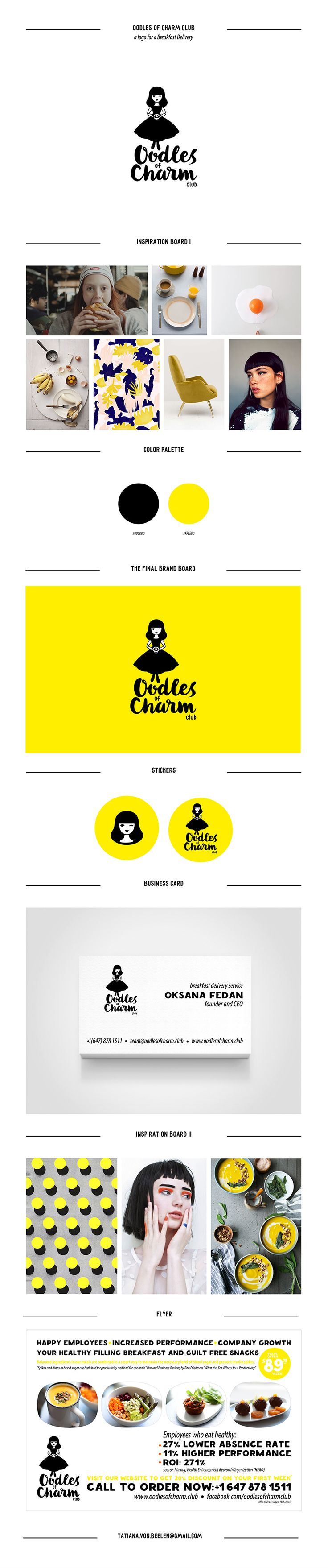 Oodles of Charm Club logo on Behance