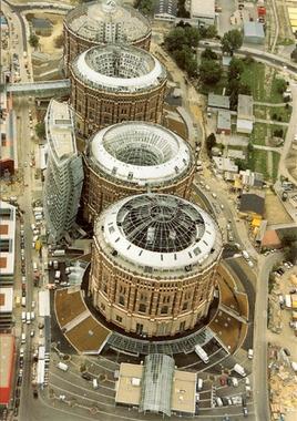 Vienna Gasometer Town - gas holder structures