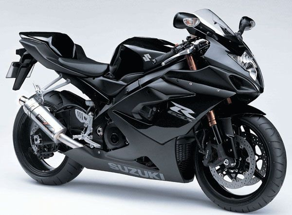 Suzuki GSX-R. Now imagine this in pink/white/gray/black. What I've been wanting since 2010, but 2013 looks promising! (: