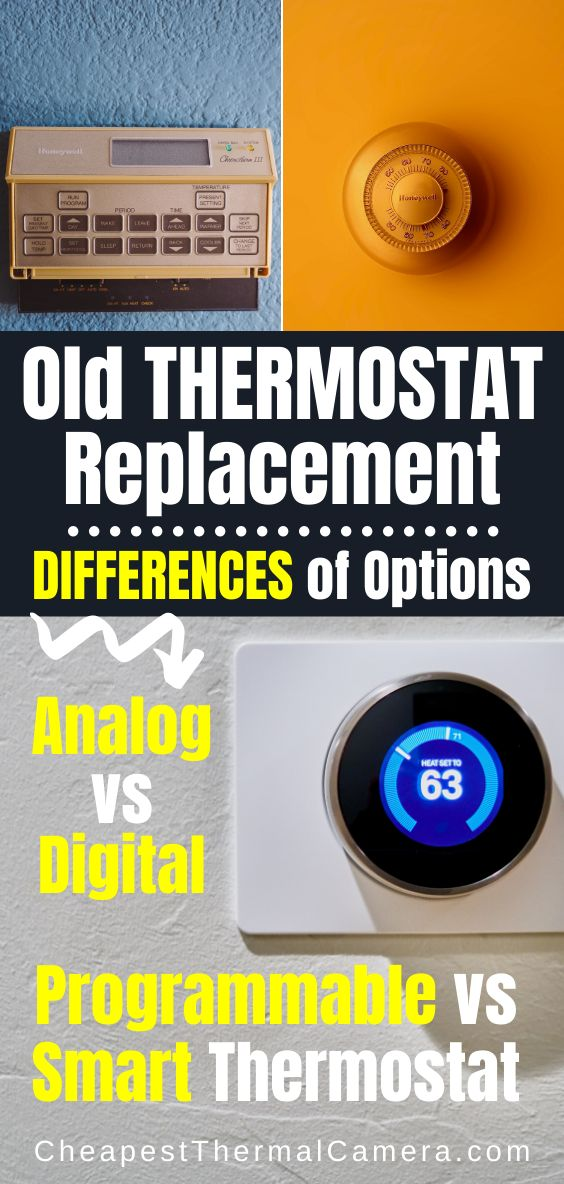 Old Thermostat Replacement At Home  Programmable Vs Smart