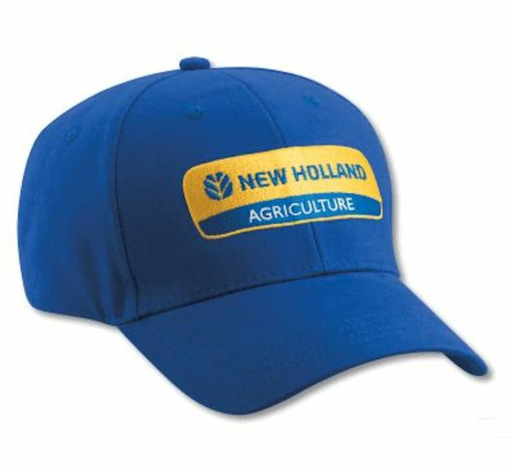 Tractor Shirts And Hats : New holland logo royal blue cap adult