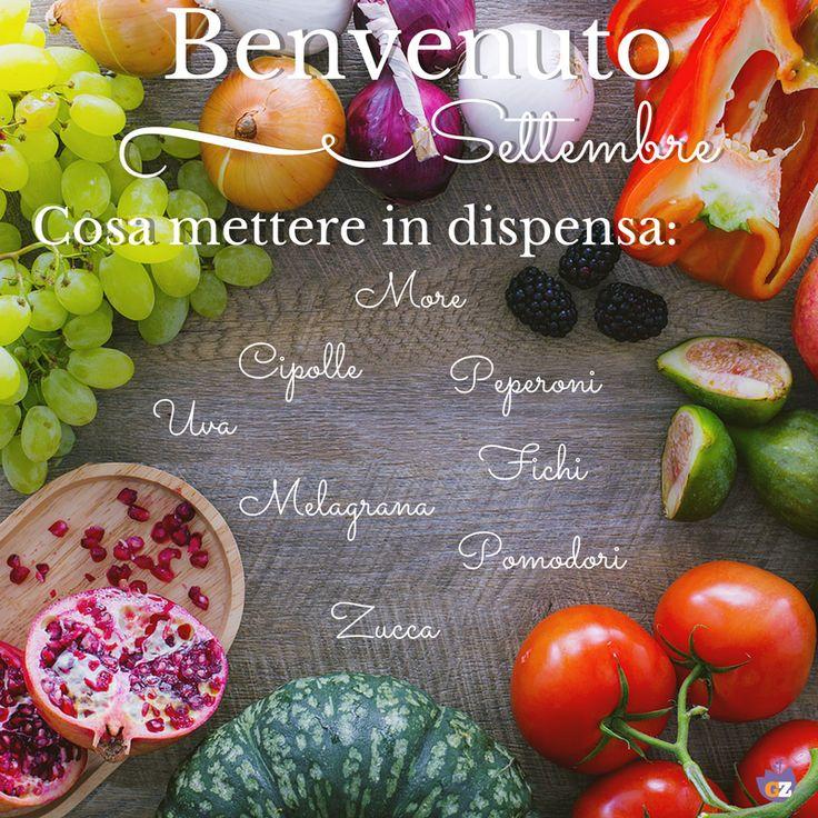Benvenuto #Settembre! Ecco cosa non può mancare nel tuo carrello della spesa! #September #summer #fall #season #fruit #vegetable