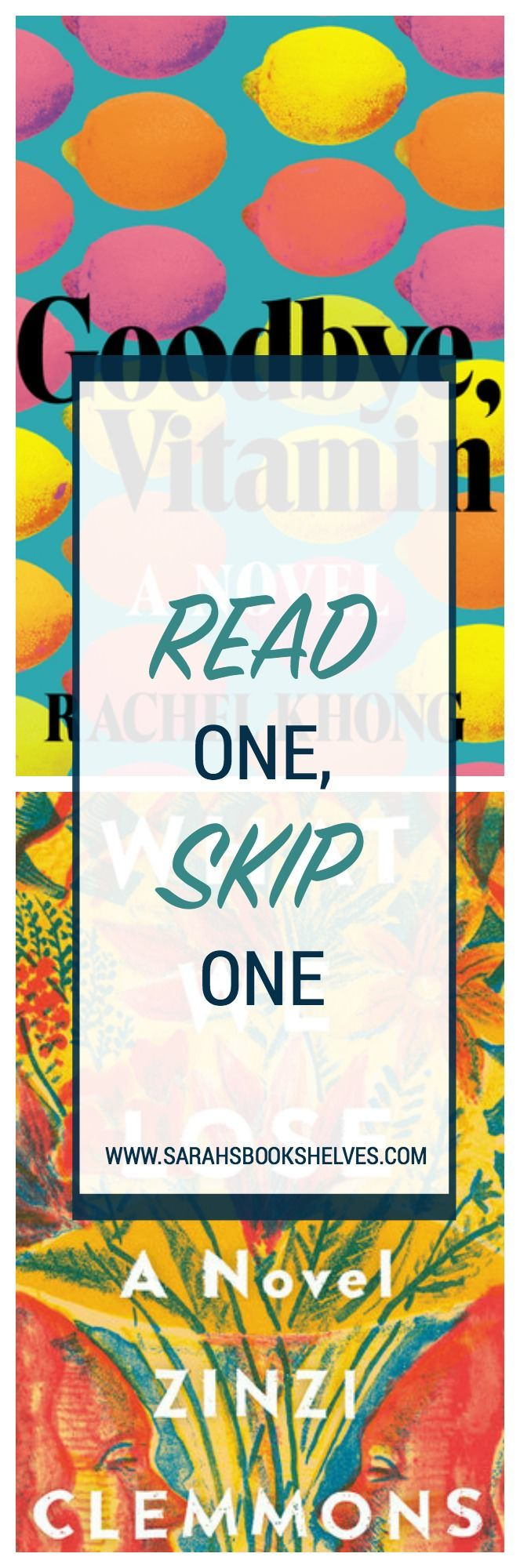 Today's Read One, Skip One is all about short books told in a vignette style...one that worked (Goodbye, Vitamin) & one that didn't (What We Lose).