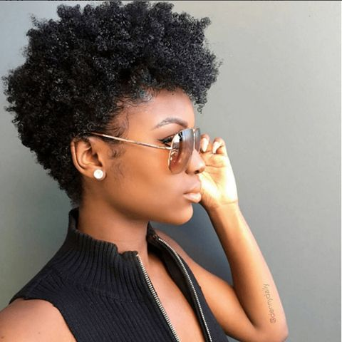 Miraculous 1000 Ideas About Short Natural Hairstyles On Pinterest Kinky Hairstyles For Women Draintrainus
