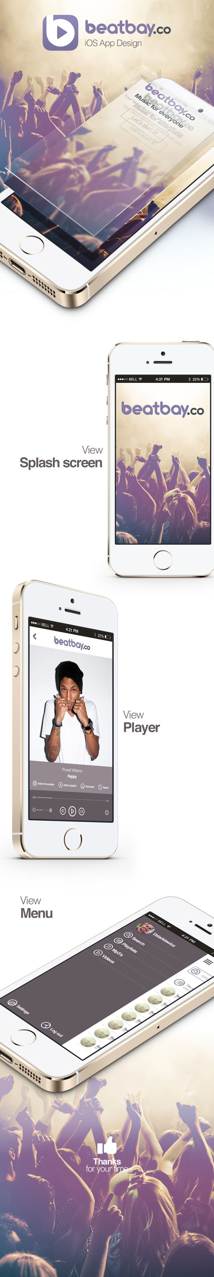 Mobile application for mp3 player
