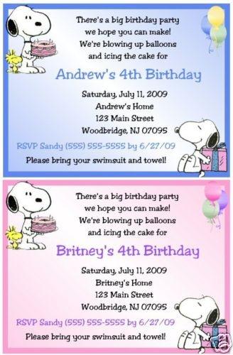snoopy invite