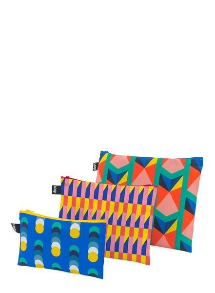 A tapestry of #3D #triangles. A symphony of striking #stripes. A cadence of #colourful #cubes. Streams of #solid #spots. Vibrate along to the #vivacious tones of the #GEOMETRIC #collection. #LOQI #zippockets