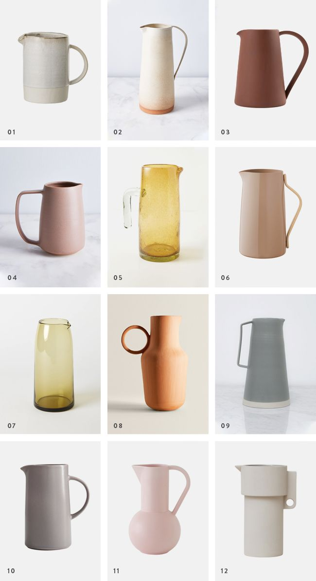 Pretty Everything 15 Modern Water Pitchers Almost Makes Perfect Modern Pitchers Scandinavian Ceramic Ceramic Pitcher