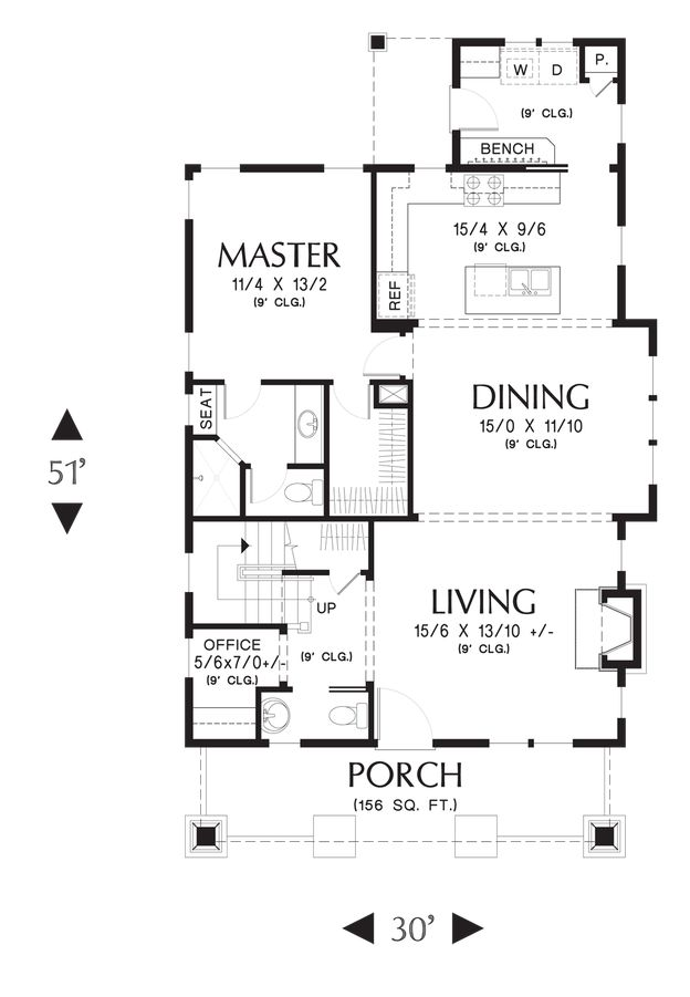 288 best images about house plans on pinterest house for Craftsman open floor plans