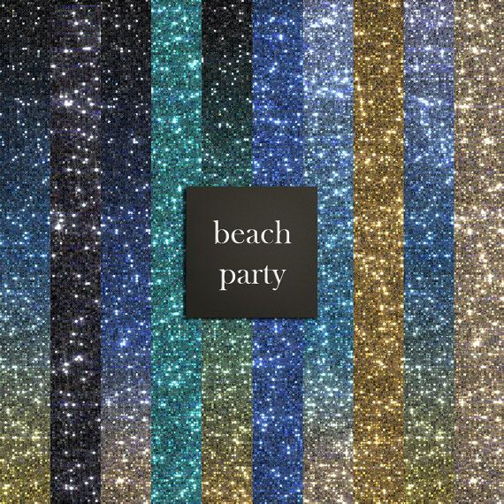 10 beach colored glitter digital papers glitter papers beach