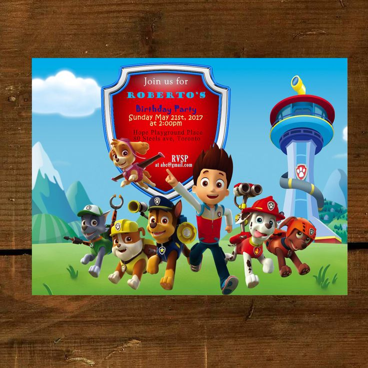 Best 25 Paw patrol birthday card ideas – Custom Printed Birthday Cards
