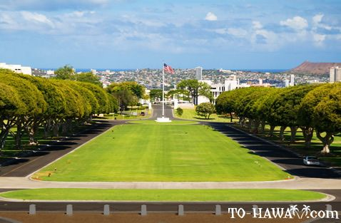 View of Punchbowl National Cemetery