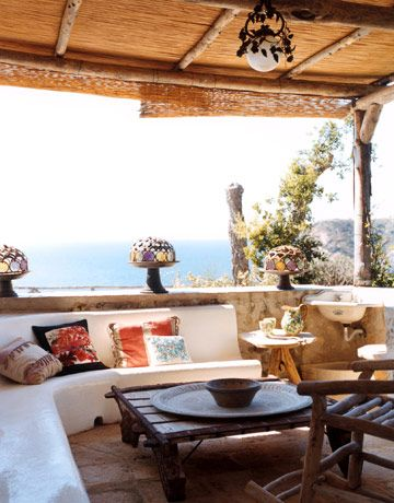 A private terrace forms an outdoor extension of a bedroom.   - HarpersBAZAAR.com