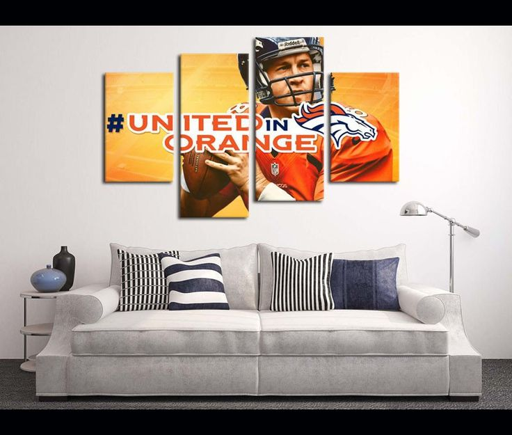 Broncos Wall Art 7 best football canvas art images on pinterest | football canvas