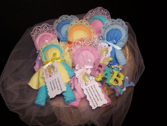 baby washcloth baby dollbaby shower favors by 299