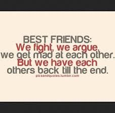 Image result for quotes about best friends fighting