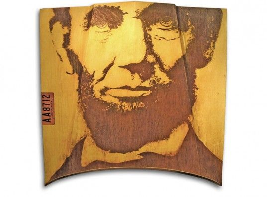 Milwaukee Modern Transforms a '75 Lincoln Continental Car Hood Into a Portrait of Abe Lincoln