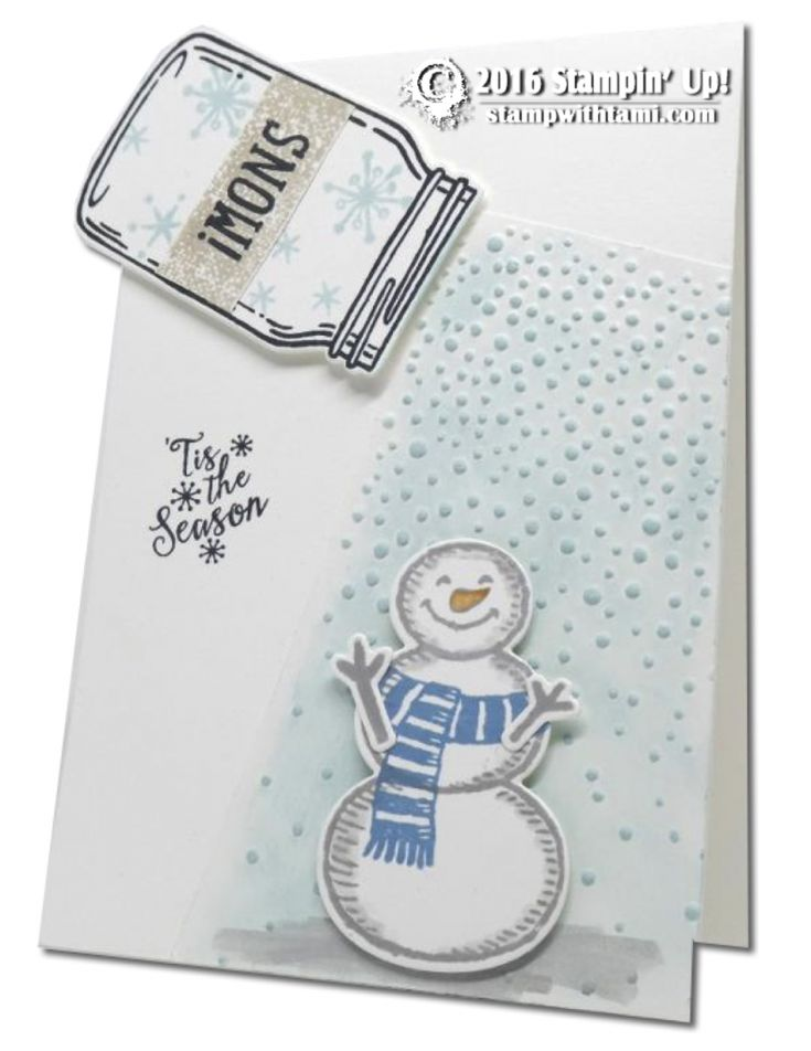 CARD: Sprinkle on some Snow in July | Stampin Up Demonstrator - Tami White - Stamp With Tami Crafting and Card-Making Stampin Up blog