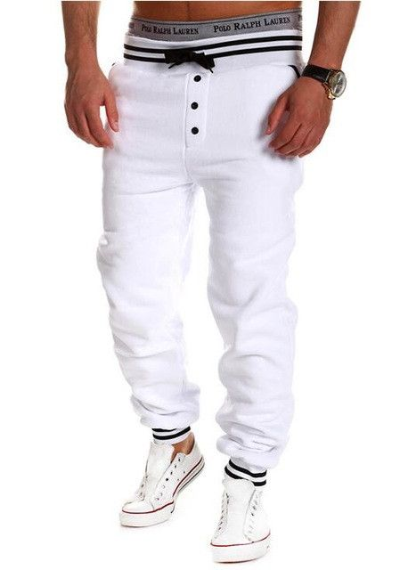 New casual pants men hit Europe and the United States hit color stitching casual pants