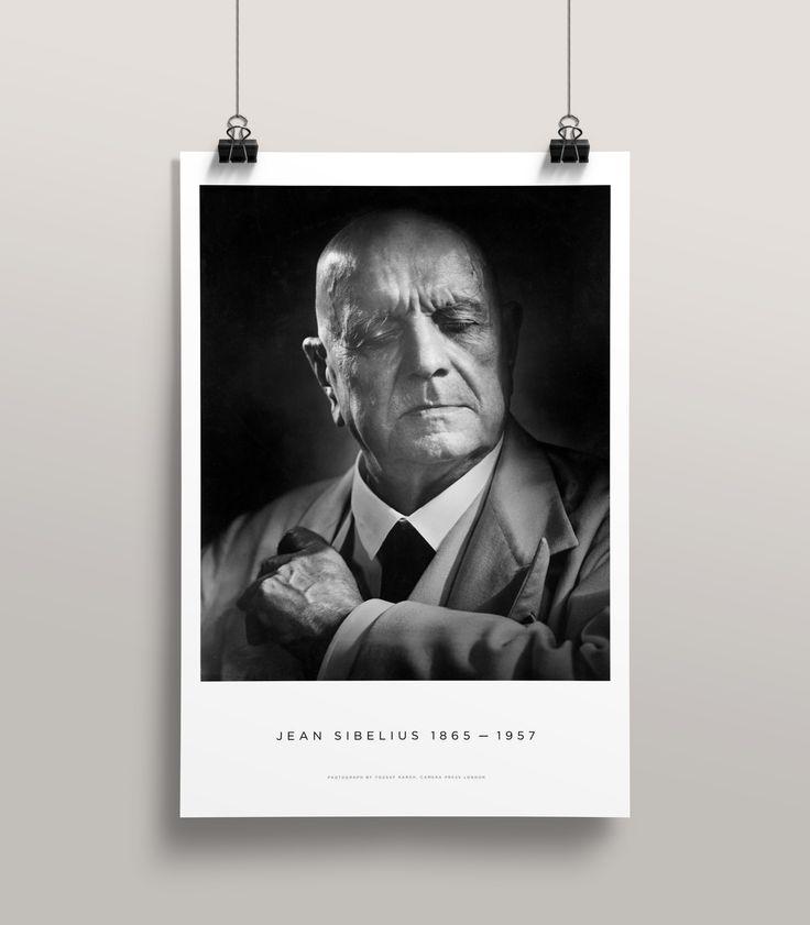 Sibelius by Karsh Poster Premium Popup Shop http://sibeliusbykarsh.com