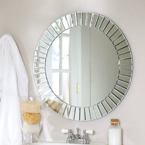 Fortune Modern Frameless Beveled Wall Mirror - 27.6 diam. in. - Wall Mirrors at Hayneedle