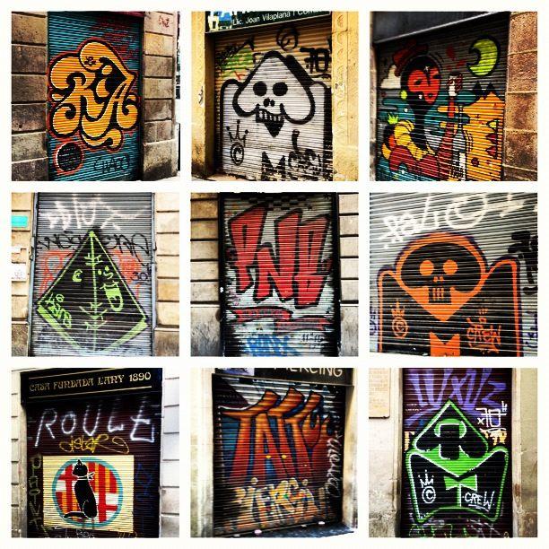Graffiti in centre of Barcelona (2012)