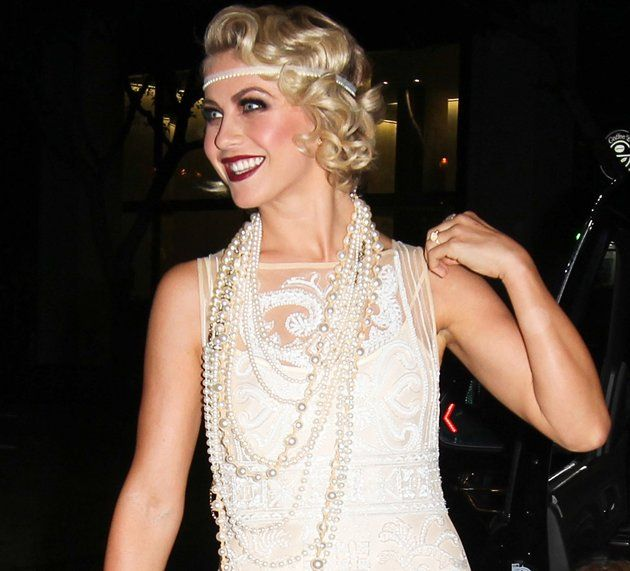 Julianne Hough's 25th Birthday Party  The birthday girl made a beautiful entrance to her own bash, rocking a white lace dress, pearls, and headpiece. Julianne certainly nailed her '20s ensemble! (