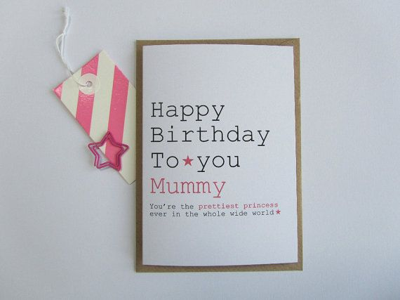 17 Best images about Proyectos que intentar – Mummy Birthday Card