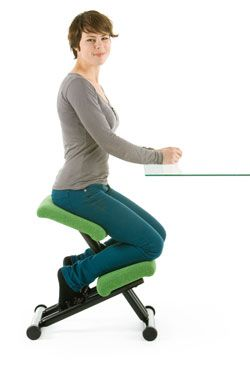 http://www.fineback.co.uk/contemporary/kneeling-chairs.html - Sitting correctly in a kneeling chair can actively improve your posture, it keeps your joints and muscles stimulated and promotes correct movement while you are sitting down, something we are all doing more and more.