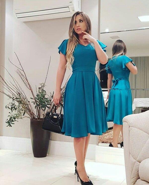 9101412ef Vestido 2019 Modelos De Vestidos Evangelicos, Modelos De Vestidos Sociais,  Moda Evangelica Vestidos,