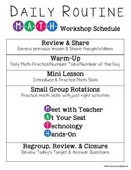 Guided Math Workshop Group – Editable Pages