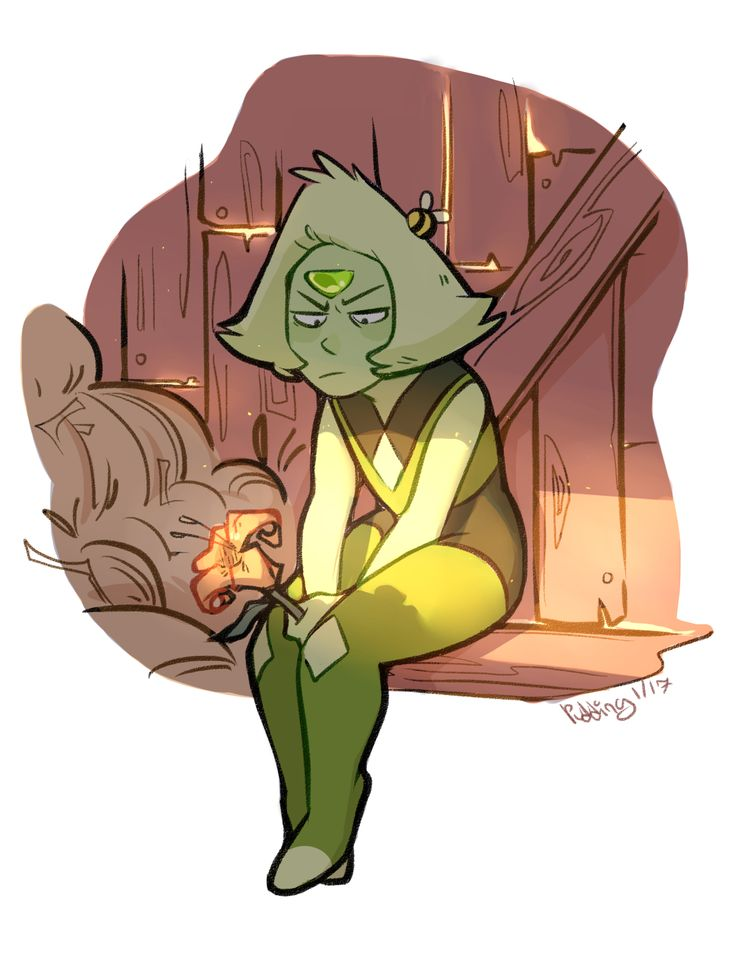 """puddingdrop: """" smol green ponders asking out tol blue on a date. (maybe someday she'll work up the courage.) class was canceled today so i drew some fav gem. its the middle of winter and its super..."""