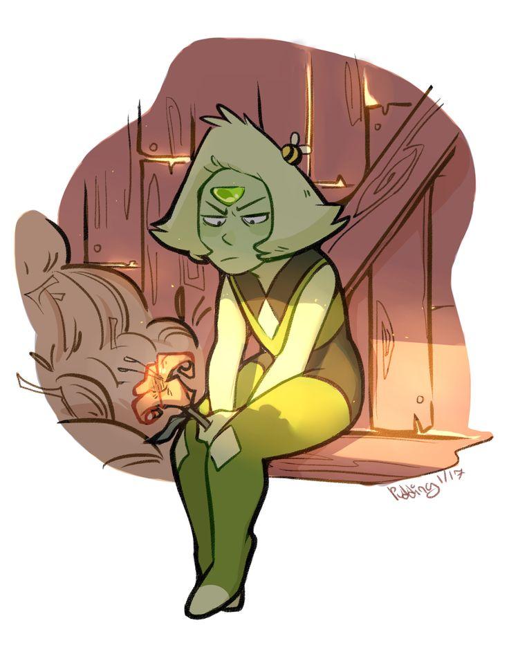 Steven Universe Fan Art! — puddingdrop: smol green ponders asking out tol...