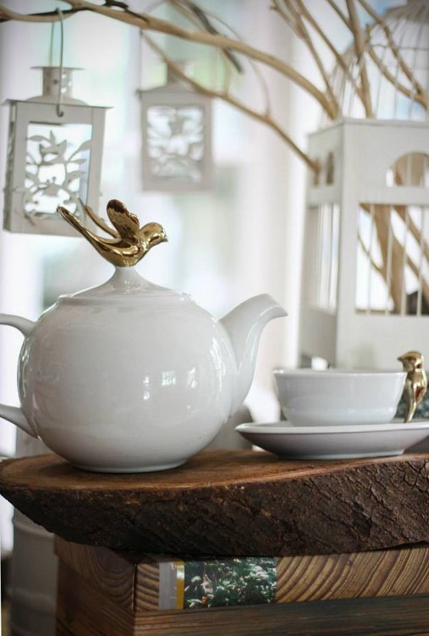 Happiness is... a relaxing environment and a cup of tea! //////// MC2 Golden Birdie - Quirky Teapot/ Tea Cup & Saucer  //////// www.topchoice.com.hk