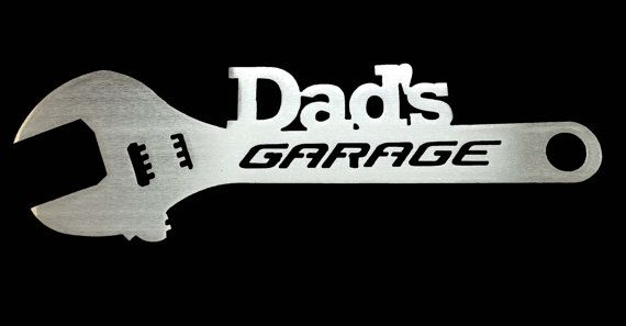 Dad's Garage Custom Metal Sign Gift for by ReflectiveEdgeDesign