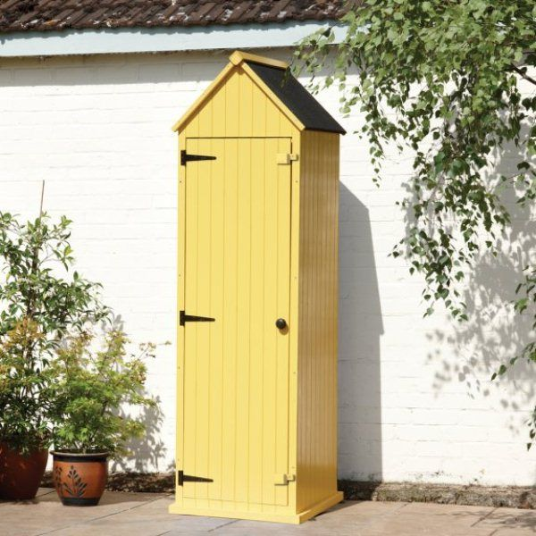 Combining the colourful charm of a beach hut and the shape of a sentry box, the Yellow Brighton Tool Shed is both stylish and practical. This compact outdoor shed is ideal for use in smaller gardens or as a secondary storage unit, providing a colourful storage space for garden tools.    Made using timber from managed sources, each panel is dipped in a weatherproof polyurethane paint for lower maintenance and a longer life. The roof is covered in heavy grade roofing felt to ensure the…