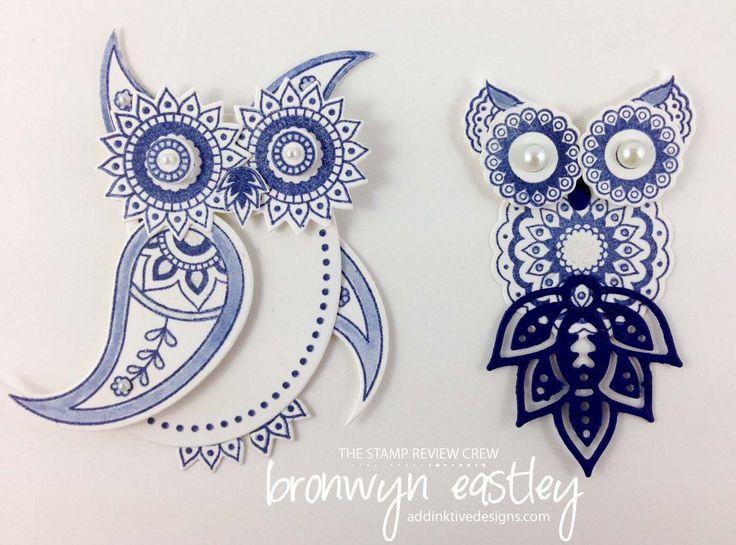 Paisleys and Posies Owl Card, Double Z-Fold, #addinktivedesigns #bronwyneastley Australian demonstrator #stampinup