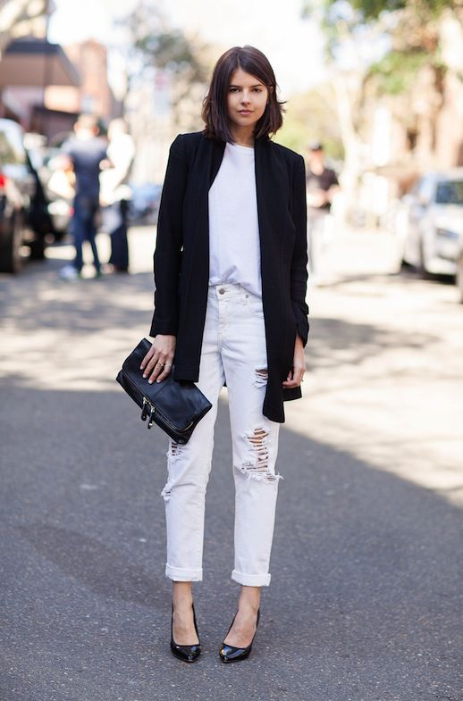 SYDNEY BLOGGER STYLE | CASUAL CHIC BLACK & WHITE by#Badlands form #LeFashion